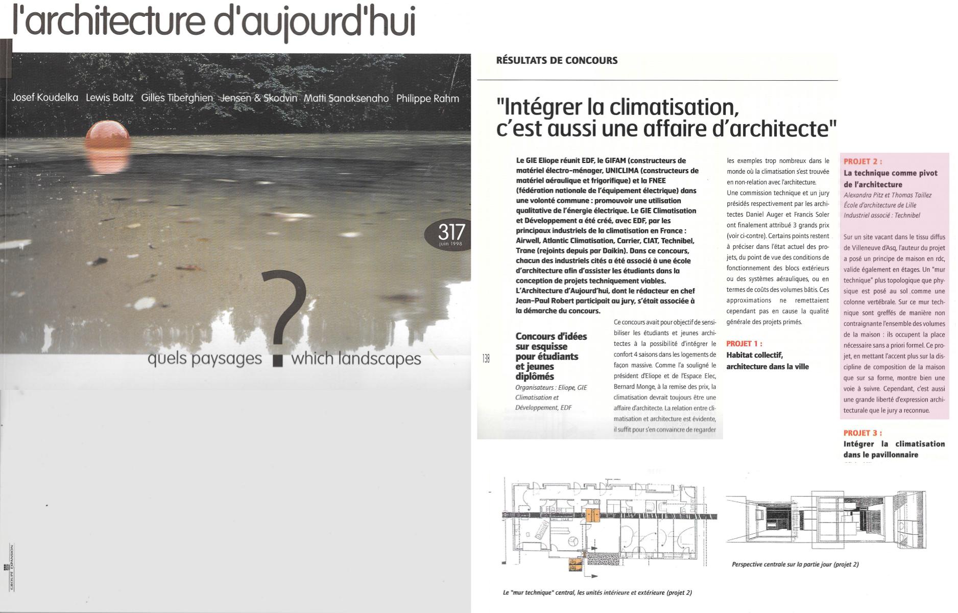 Architecture d'Aujourd'hui p. 138 + 139