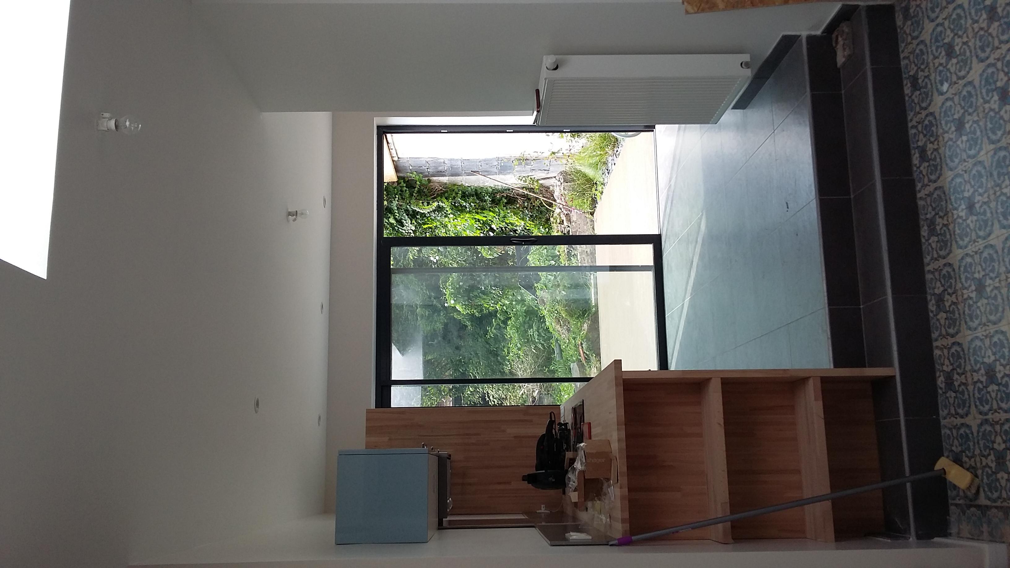 R habilitation et extension d une maison de ville a z for Extension cuisine sur jardin