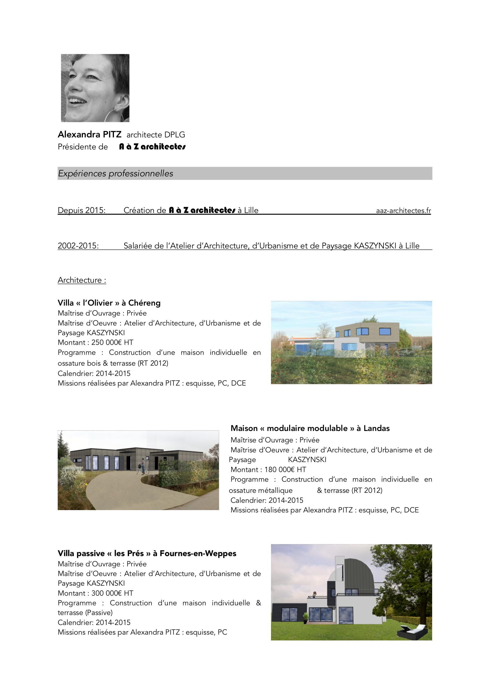 cv illustr u00e9  u2013 a  u00e0 z architectes