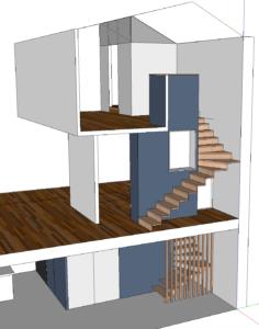 AàZ architectes HLM 01 3D triplex