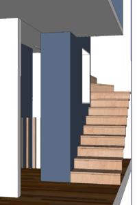 AàZ architectes HLM 01 3D escalier